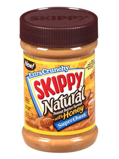 Skippy Natural Super Chunk Peanut Butter With Honey (425g)