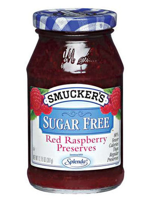 Smucker's Sugar Free Red Raspberry Preserves (361g)