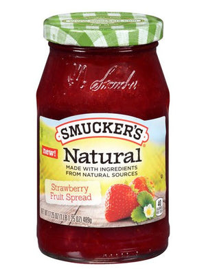 Smucker's Natural Strawberry Fruit Spread (489g)
