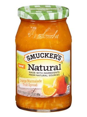 Smucker's Natural Orange Marmelade Fruit Spread (489g)