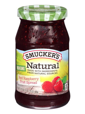 Smucker's Natural Red Raspberry Fruit Spread (489g)