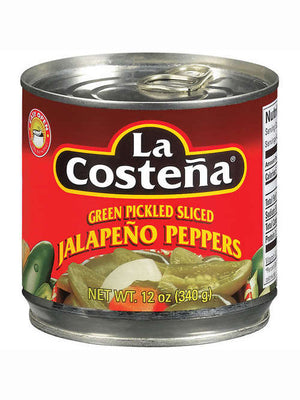 La Costena Green Pickled Sliced Jalapeno Peppers (340g)