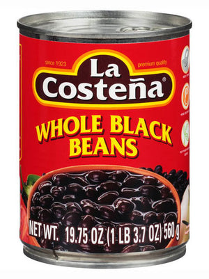 La Costena Whole Black Beans (560g)