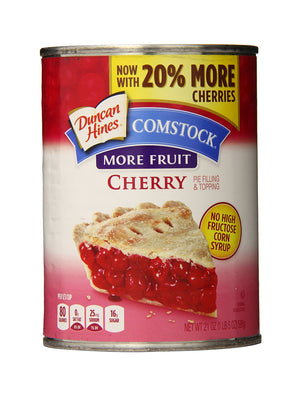 Duncan Hines Comstock More Fruit Cherry Pie Filling (595g)