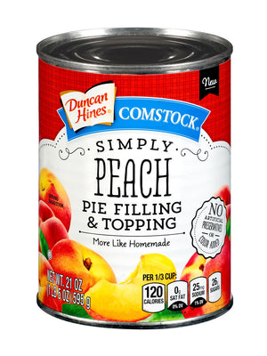 Duncan Hines Comstock Simply Peach Pie Filling & Topping (595g)