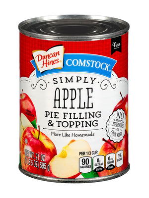 Duncan Hines Comstock Simply Apple Pie Filling & Topping (595g)
