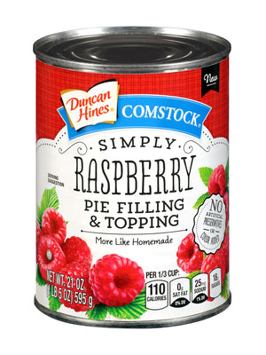 Duncan Hines Comstock Simply Raspberry Pie Filling & Topping (595g)