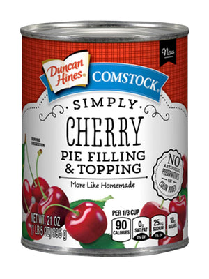 Duncan Hines Comstock Simply Cherry Pie Filling & Topping (595g)