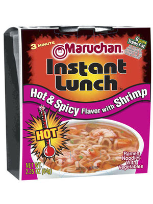 Maruchan Hot & Spicy Flavor w/Shrimp Instant Lunch (64g)
