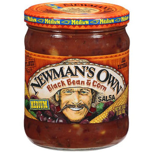 Newman's Own Black Bean & Corn Medium Salsa (454g)