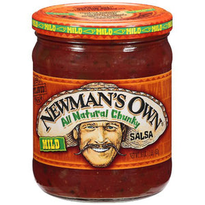 Newman's Own Mild All Natural Chunky Salsa (454g)