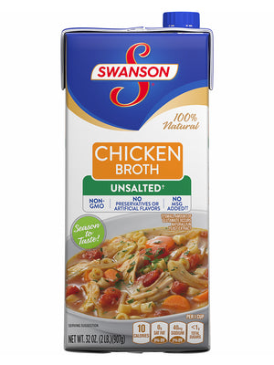 Swanson Unsalted Chicken Broth (907g)