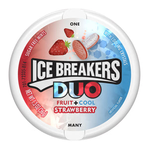 Ice Breakers Duo Fruit + Cool Strawberry Sugar Free Mints (37g)