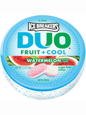 Ice Breakers Duo Fruit + Cool Watermelon Sugar Free Mints (37g)