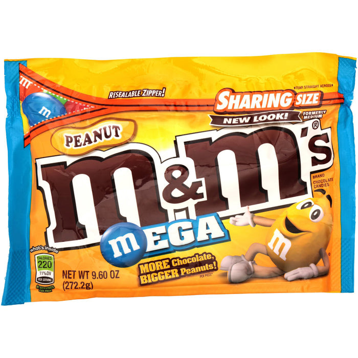 M&M's MEGA Peanut Chocolate Candies (273g)