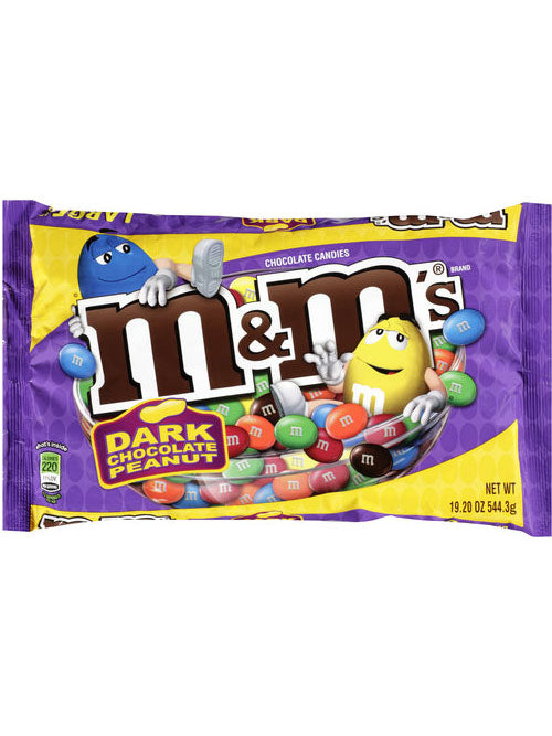 M&M's Dark Chocolate Peanut Candies (544g)