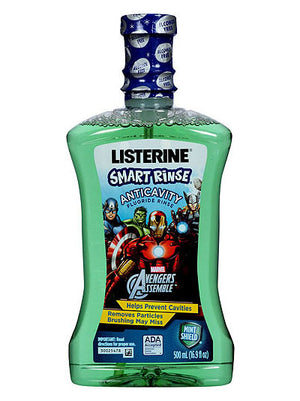 Listerine Mint Shield Smart Rinse Anticavity Fluoride Rinse (500ml)