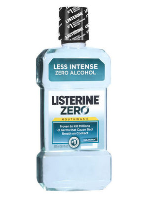 Listerine Zero Clean Mint Mouthwash (500ml)