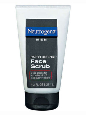 Neutrogena Face Scrub Men Razor Defense (119g)