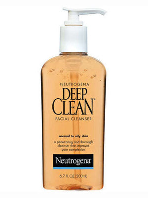 Neutrogena Facial Cleanser Normal to Oily Skin Deep Clean (198ml)
