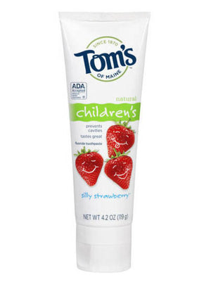Tom's Of Maine Children's Silly Strawberry Fluoride Toothpaste (119g)