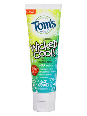 Tom's Of Maine Wicked Cool! Mild Mint Fluoride Toothpaste (119g)