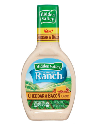 Hidden Valley Cheddar & Bacon Ranch Dressing (454g)