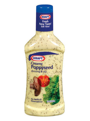 Kraft Creamy Poppyseed Dressing (454g)