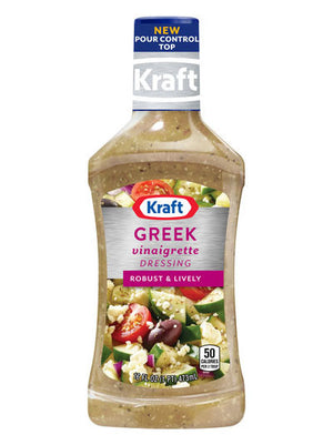 Kraft Greek Vinaigrette Dressing & Marinade (454g)