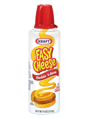 Kraft Easy Cheese Cheddar 'n Bacon (227g)