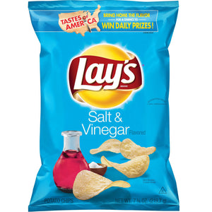 Lay's Salt & Vinegar Potato Chips (269g)