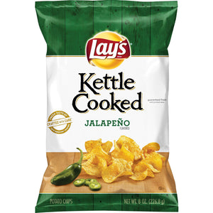 Lay's Kettle Cooked Jalapeno Potato Chips (227g)