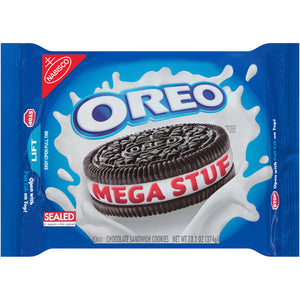 Oreo Mega Stuf Chocolate Sandwich Cookies (374g)