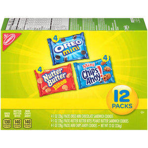 Oreo Mini Classic Cookies Snack Packs (12pk) (340g)