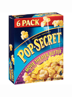 Pop Secret Movie Theater Butter Microwave Popcorn (Pack of 6) (544g)
