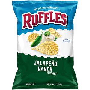 Ruffles Jalapeno Ranch Potato Chips (241g)