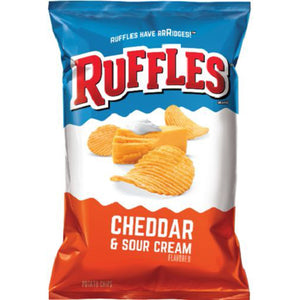 Ruffles Cheddar & Sour Cream Potato Chips (241g)