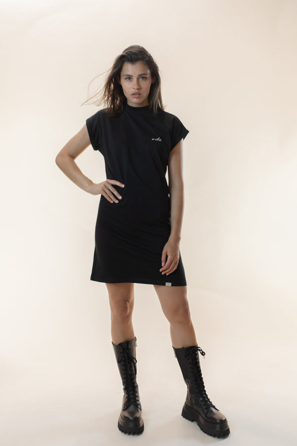 Xia Turtleneck Dress black