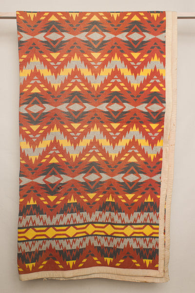 Yellow, Orange & Grey Camp Blanket