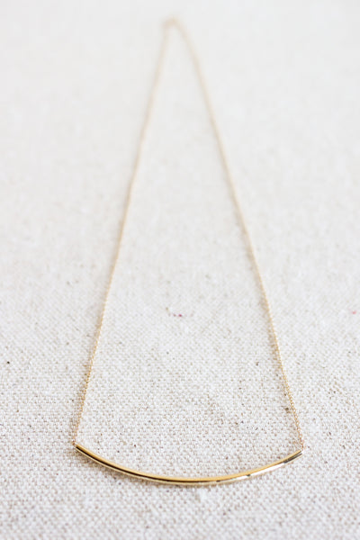 Arc Necklace 14k