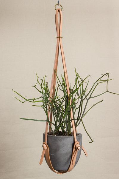 "Long Leather Plant Hanger (27"")"