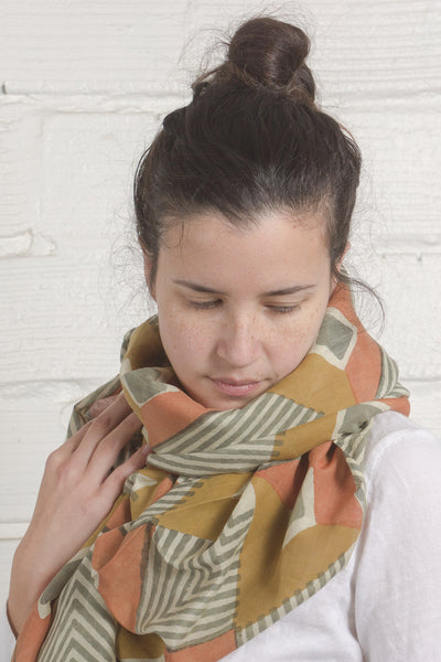 Warm Diamondback Scarf