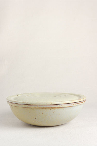 Ceramic Covered Bowl in Lichen