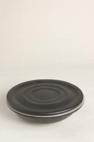Ceramic Covered Bowl in Black