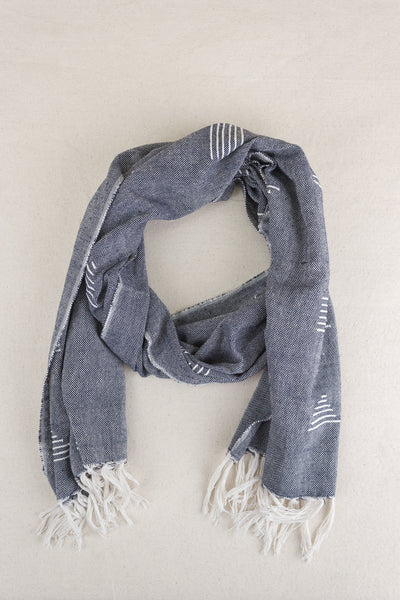 Shapes Scarf in Blue