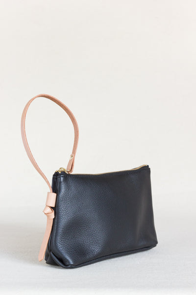 Knotted  Wristlet Clutch in Black