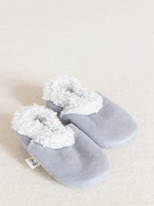 Lambskin Booties in Grey