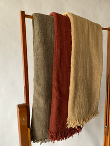 Woven Raw Cotton Throw