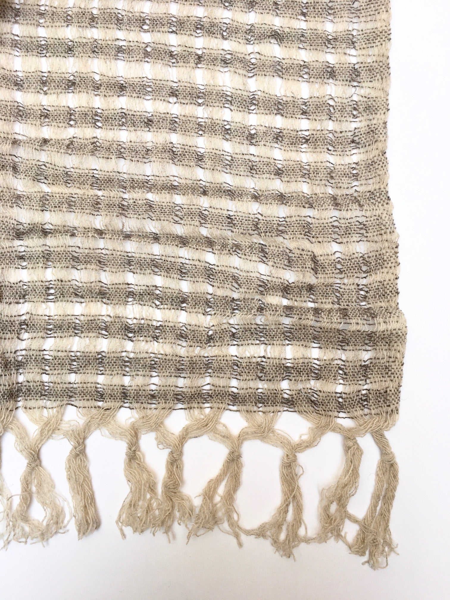 Wabi-Sabi Wool Throw Blanket in Natural