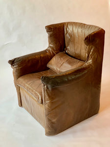 Leather Lounge Chair by Gerard van den Berg